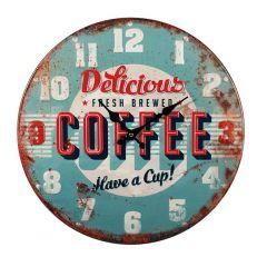 Ceas de perete Coffee, 40 cm