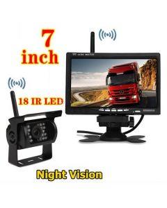 Kit marsarier wireless cu camera si display de 7″ 12V~24V, K611W pentru Camioane, Autocare, Bus-uri
