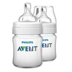 Set 2 biberon Clasic Philips-Avent SCF560/27, 125 ml, alb