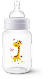 Biberon Clasic Philips-Avent SCF574/12, 260 ml, cu design girafa