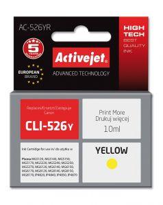 Cartus compatibil Canon CLI-526Y Yellow, 10 ml, Premium Activejet, Garantie 5 ani