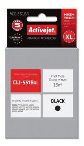 Cartus compatibil CLI-551Bk negru pentru Canon, 15 ml, Premium Activejet, Garantie 5 ani