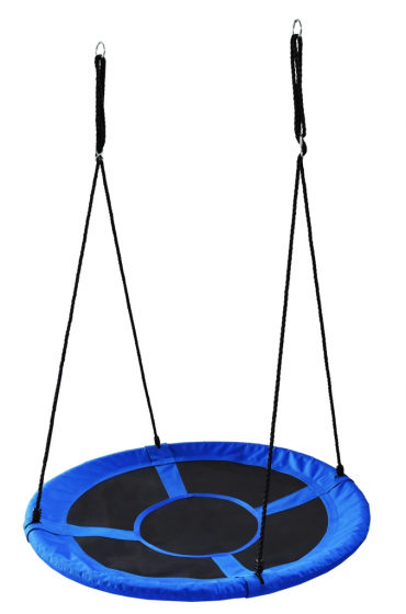 Balansoar Terasa.Leagan Balansoar Rotund Tip Cuib Pentru Curte Gradina Sau Terasa Capacitate Maxima 150kg Diametru 100cm Culoare Albastru