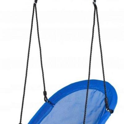Balansoar Terasa.Leagan Balansoar Rotund Tip Barca Pentru Curte Gradina Sau Terasa Capacitate Maxima 150kg Dimensiune 60x100cm Culoare Albastru