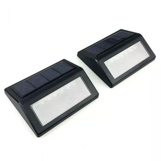 Set Lampi Solare.Set 2 Lampi Solare Pentru Trepte Led Lumina Rece Lixada