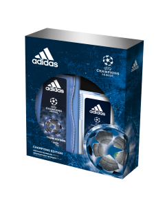 Set cadou Adidas UEFA Champions Edition, Barbati: Deodorant natural spray, 75 ml + Gel de dus, 250 ml