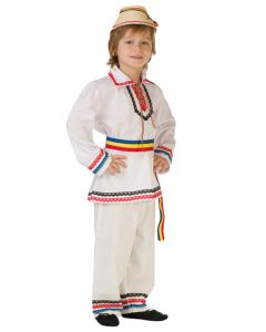 Costum national popular baiat   140 cm (8-10 ani)