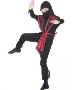 Costum Ninja copii rosu   130 cm (6-7 ani)