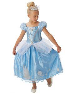 Costum Disney Cenusareasa copii cu tiara   120 cm (5-6 ani)