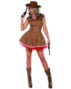 Costum cowboy femei vestul salbatic Fever   L