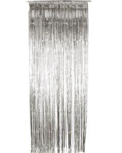 Decor usa perdea franjuri beteala argintie