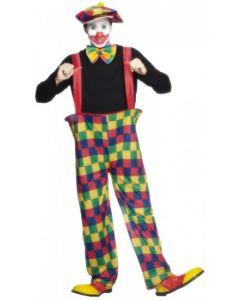Costum clown adult cu bretele   L