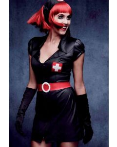 Costum asistenta medicala Miss Blacky   S