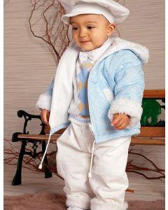 Costum baieti toamna iarna matlasat   86 cm (16-22 luni)