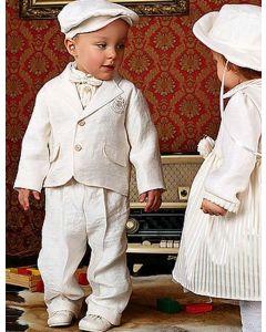 Costum botez baieti vara din in WA002 6 piese   68 cm (4-6 luni)