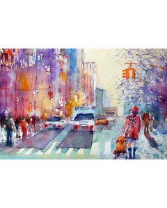 Tablou DualView Startonight Culorile Orasului, luminos in intuneric, 20 x 30 cm
