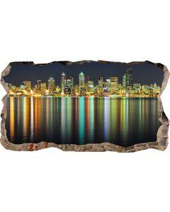 Fototapet 3D Startonight Luminile orasului, luminos in intuneric, 2.20 x 1.20 m