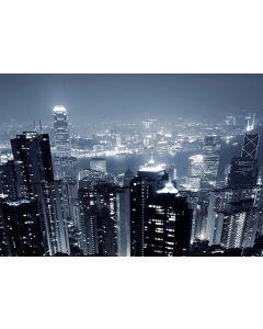 Fototapet Startonight Hong Kong, luminos in intuneric, 1.83 x 1.28 m