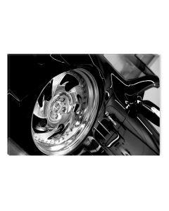 Tablou Alb-Negru Abstract Startonight, Roata sexy, luminos in intuneric, 80 x 120 cm