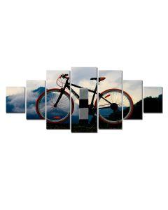 Set Tablou DualView Startonight Bicicleta, 7 piese, luminos in intuneric, 100 x 240 cm