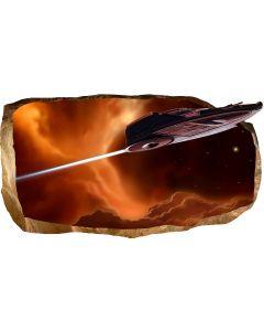 Fototapet 3D Startonight Lansare, luminos in intuneric, 1.50 x 0.82 m