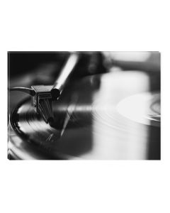 Tablou Alb-Negru Abstract Startonight, Disc vinyl, luminos in intuneric, 60 x 90 cm