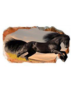 Fototapet 3D Startonight Cal negru, luminos in intuneric, 1.50 x 0.82 m