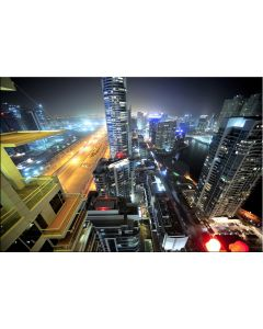 Tablou DualView Startonight Dubai - Luminile orasului, luminos in intuneric, 20 x 30 cm