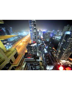 Fototapet Startonight Desupra orasului, luminos in intuneric, 1.83 x 1.28 m