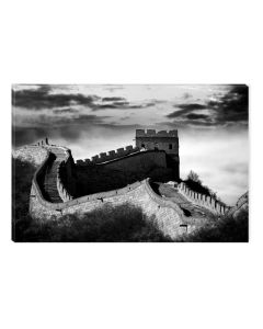 Tablou Alb-Negru Abstract Startonight, Zidul chinezesc, luminos in intuneric, 60 x 90 cm