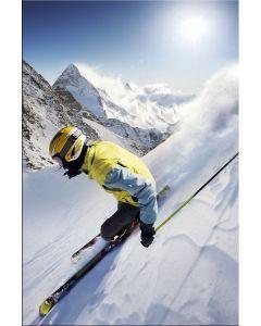Tablou DualView Startonight Zi insorita la ski, luminos in intuneric, 60 x 90 cm