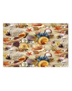Tablou DualView Startonight Stele de mare si scoici pe plaja, luminos in intuneric, 40 x 60 cm