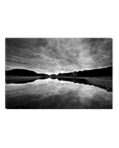 Tablou Alb-Negru Abstract Startonight, Timp pentru pescuit, luminos in intuneric, 60 x 90 cm