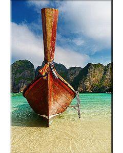 Tablou DualView Startonight Barca in golful Maya , luminos in intuneric, 80 x 120 cm