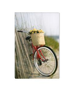 Tablou DualView Startonight Bicicleta rosie, luminos in intuneric, 60 x 90 cm