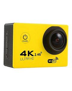 Camera video sport, 4K - Ultra HD, Wifi, Waterproof Action Cam, Galben