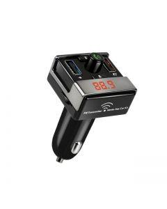 Modulator FM Auto cu Display Digital, Radio, Card SD, 2x USB, Joystick Multifunctional, A7, Negru