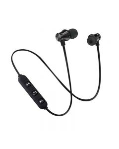 Casti Sport Stereo Bluetooth, cu Prindere Magnetica a Castilor, Athlete 4.2, Negru