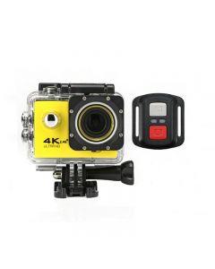 Camera Video Sport, Ultra HD cu Wi-Fi, Rezistenta la Apa, cu Telecomanda, A-Cam 4K, Galben