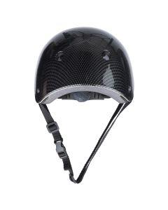 Casca Protectie Sport, pentru Tineret si Adulti, Sistem reglabil, Curele Barbie, Guri de Aerisire, 57-62 cm, Negru Lucios