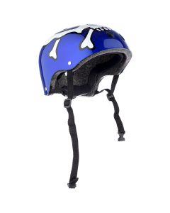 Casca Protectie Sport, pentru Tineret si Adulti, Sistem reglabil, Curele Barbie, Guri de Aerisire, 57-62 cm, cu Model, Albastra