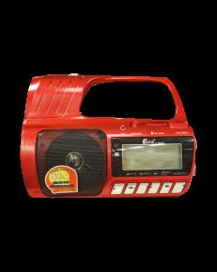 Radio Portabil cu Lanterne Fepe FP-323RC, MP3 player, USB, SD / TF CARD, Acumulator, Display LCD, Functie inregistrare, Telecomanda, Rosu