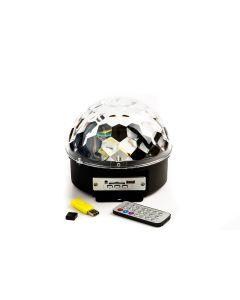 Glob Lumini Disco Pentru Petreceri Soundvox, Mp3 Player, Boxa, Telecomanda, Negru