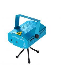 Proiector laser Soundvox™, cu stele miscatoare si joc de lumini, Albastru