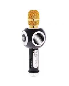 Microfon Karaoke Wireless cu Bluetooth, Soundvox M8 cu Boxa inclusa si Joc de Lumini, Negru