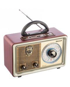 Radio cu MP3 Player Meier M-U110, FM/AM/SW3, USB, SD/ TF CARD, Telecomanda, Maro-Auriu