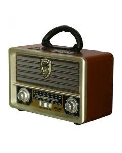 Radio cu MP3 Player Meier M-U113BT, FM/AM/SW3, USB, SD/ TF CARD, Telecomanda, Maro-Auriu