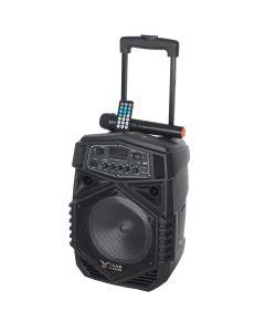 Boxa Activa Portabila Troller 8, Soundvox P-805 cu Microfon, Bluetooth, Display, Fm, Usb, Sd, Aux, Lumini, Telecomanda, Negru