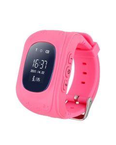 Ceas Smartwatch pentru copii Q50G, GPS Tracker + Telefon, Alarma SOS, Roz
