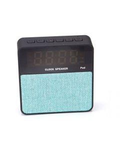 Radio portabil cu Ceas, Alarma si Bluetooth - Soundvox T1, Turcoaz